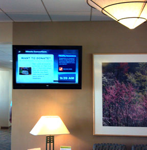 Image of digital signage in a business.