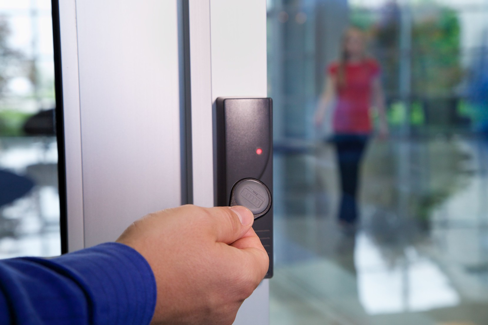 FOB based access control system in action.