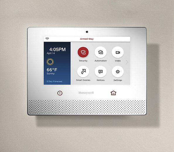 Honeywell control unit for security, access control, home automation and audio video system.