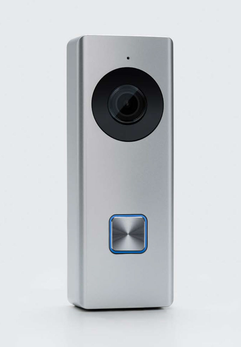 Video doorbell device for access control and surveillance system.