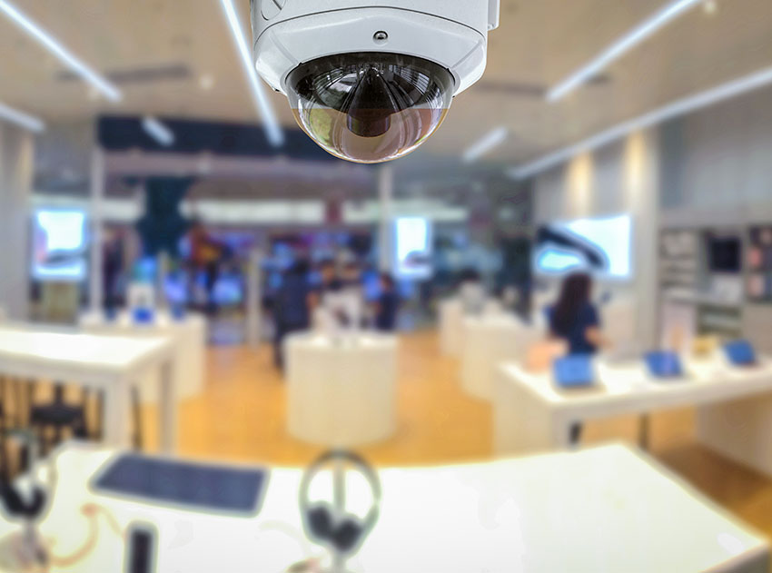 Image of security system camera used in a digital monitoring surveillance system.