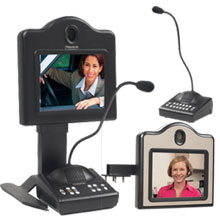 Two-way teller, two-way video communication system for use in a bank or financial institution.