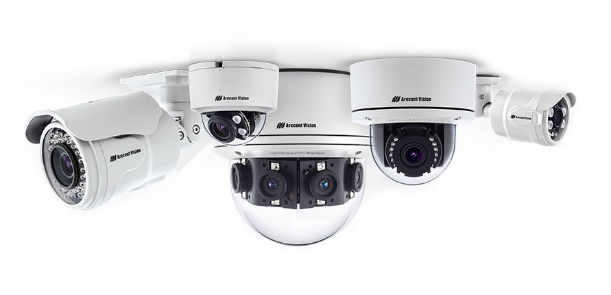 Variety of high-quality digital video cameras for use in a surveillance system.