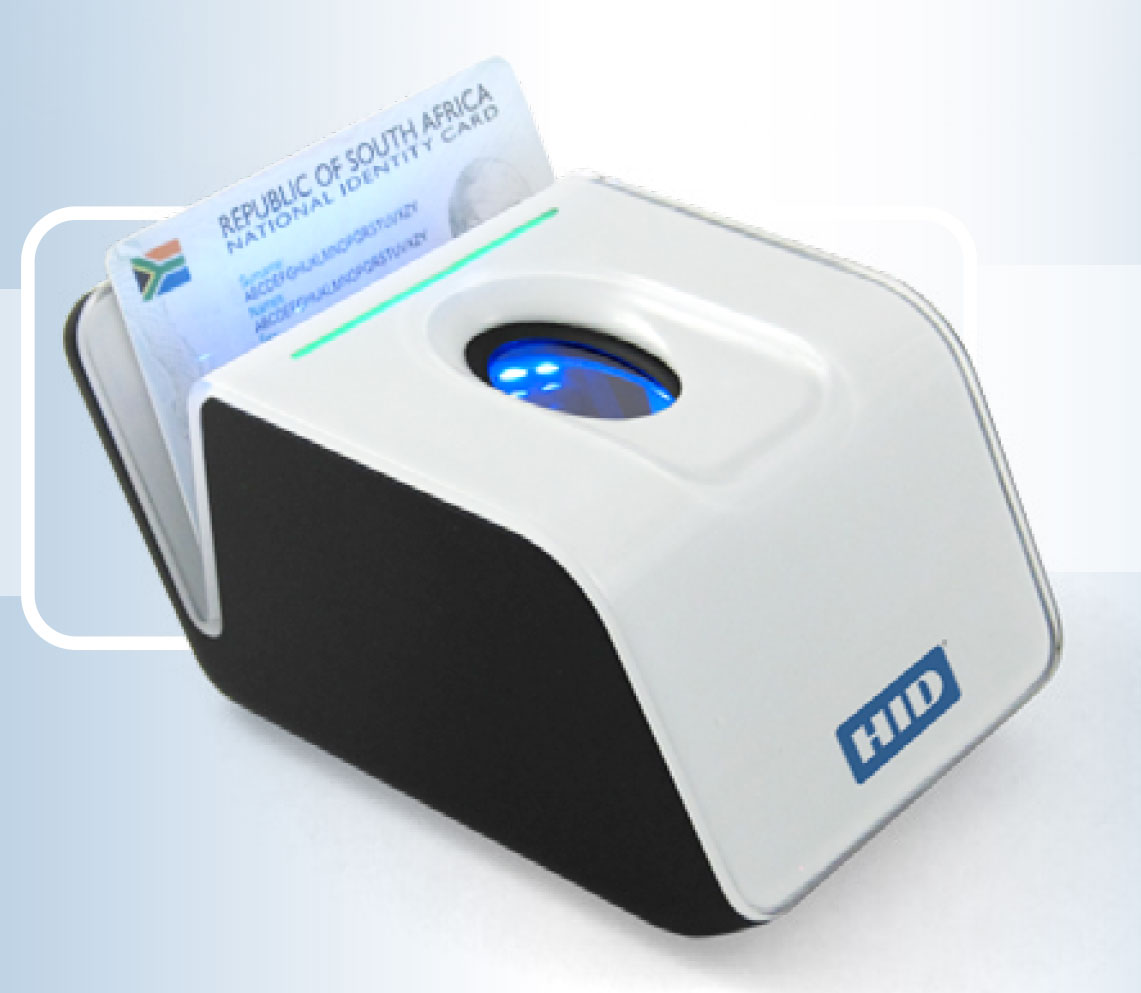 Fingerprint scanning device for access control.