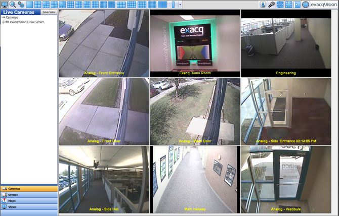 Digital monitoring and surveillance system camera monitoring software.