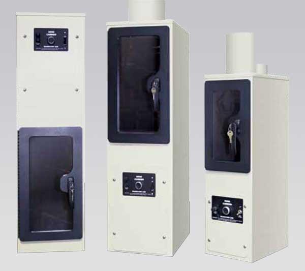 Bank teller pneumatic canister system.