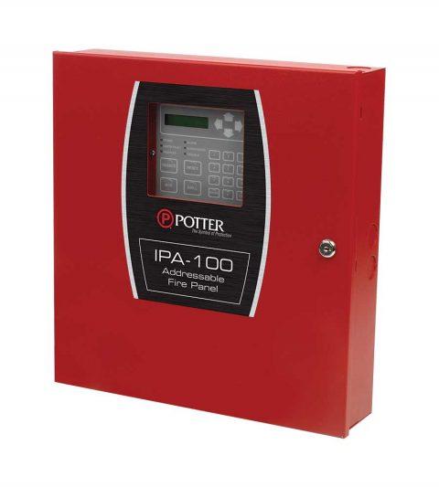 Addressable fire alarm control panel.